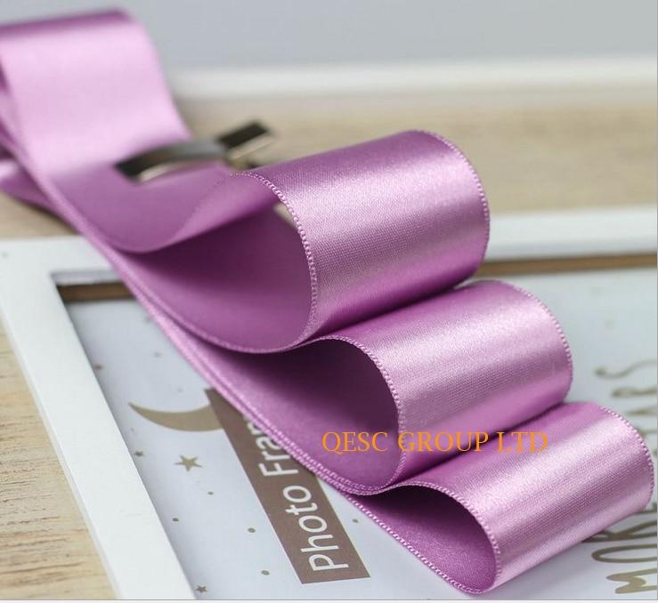 NEW Purple 4cm Satin ribbon satin fabric for fascinator hair accessory dress hat bag clothes belt gift box wedding.FREE SHIPPING