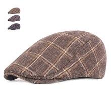 abdeb63df61 Spring Autumn Hats For Men Casual Plaid Cotton Beret Caps Gorras Planas  Boinas Check Flat Cap
