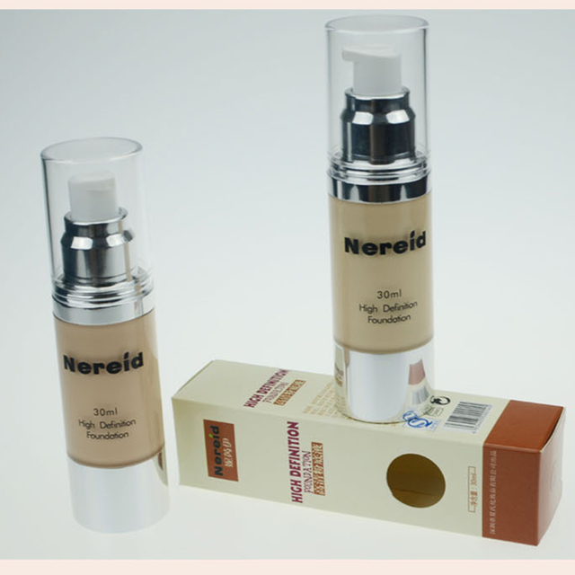 High Quality 30ml Liquid HD Foundation 6 Color Women Facial Makeup Brighten Moisturizing Concealer Cosmetic