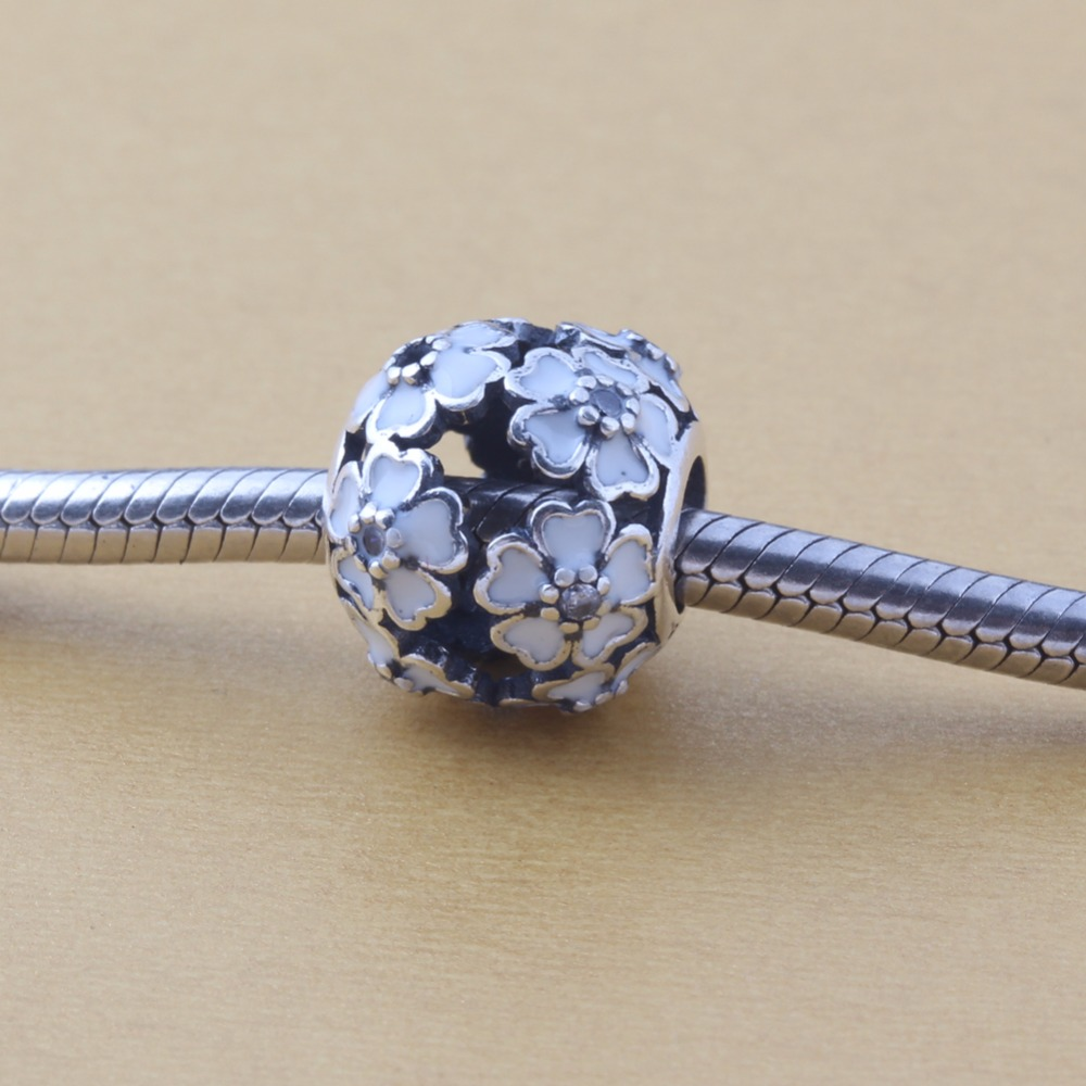 ZMZY Authentic 100% 925 Sterling Silver Blooming Bead Fits Pandora Charms Bracelet DIY jewelry
