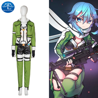 2017 New Arrival Movie Character Sword Art Online Sinon Cosplay Costume For Women Women S Outfit