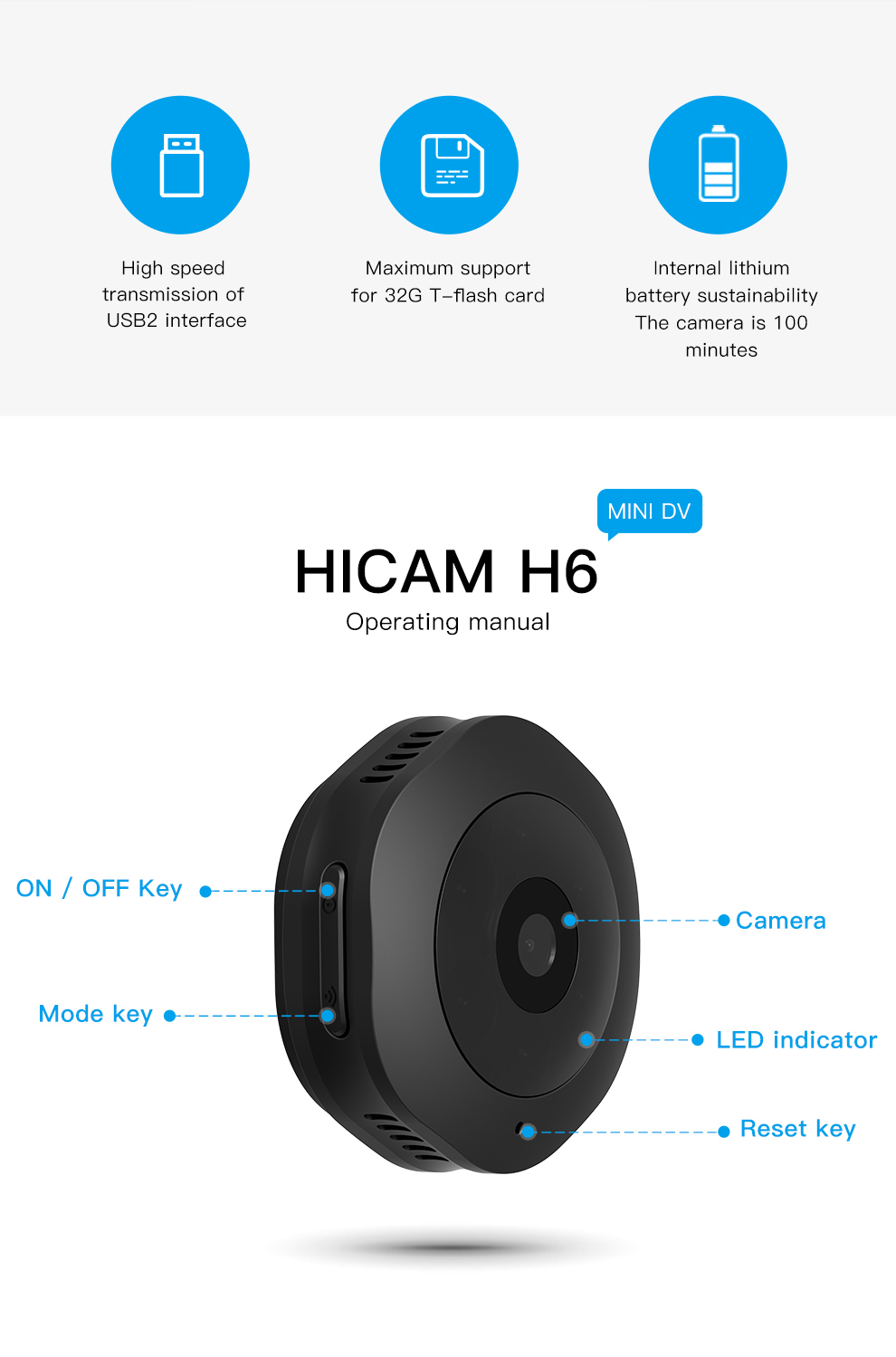 HTB16.7INmzqK1RjSZFLq6An2XXar H6 DV/Wifi Mini ip camera Night Version Micro Camera with motion Sensor Camcorder Voice Video Recorder security hd camera 1080p