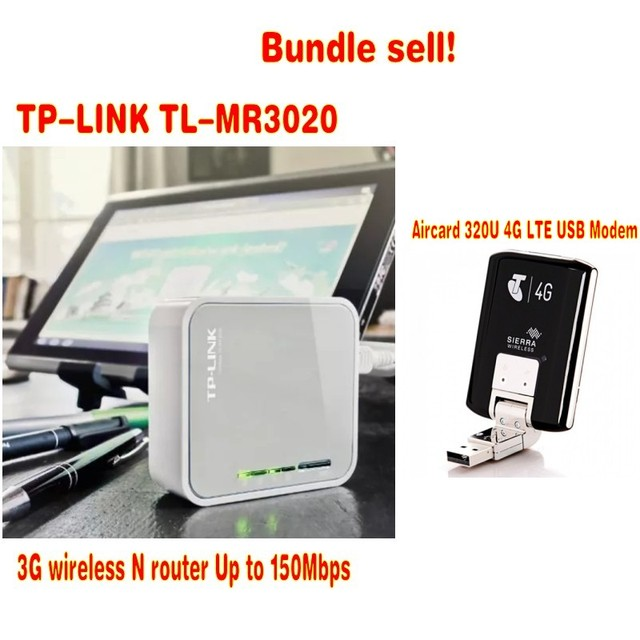 Unlocked Sierra Aircard 320u 4g Lte Usb Modem Plus Tp Link Mr3020 Bundle