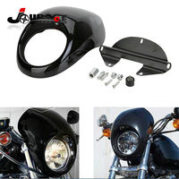 Front Racing Headlight Fairing Cowl For Harley Sportster Dyna FX XL 883 1200