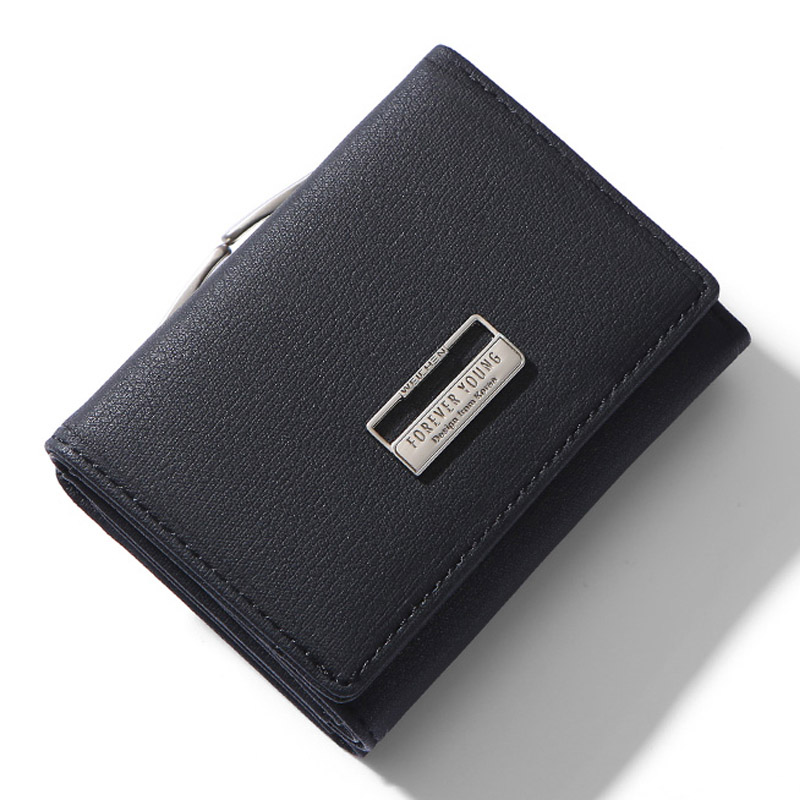 Fashion Trifold Ladies Wallets Leather With Clip Coin Pocket Card Holder Brand Small Wallet Women High Quality Female Purse