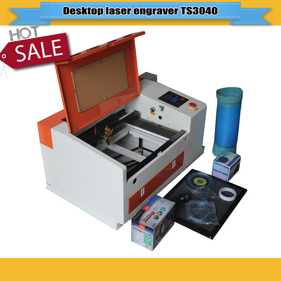 50W Desktop CO2 Laser Engraving Cutting Machine With Honeycomb Table+ Reddot Sensor
