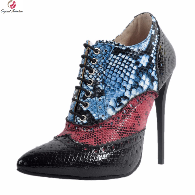 50f4bc70f859 Ursprüngliche Absicht Neue Populäre Frauen Stiefeletten Sexy Spitz dünne  Fersen Stiefel Elegante Schwarze Schuhe Frau Plus