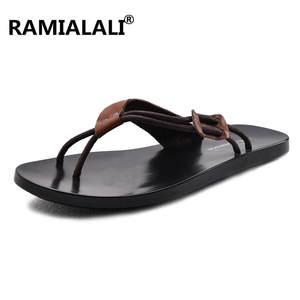 d99ea79f622ba Ramialali Slipper Sandals Beach Flip Flops Men Summer Shoes