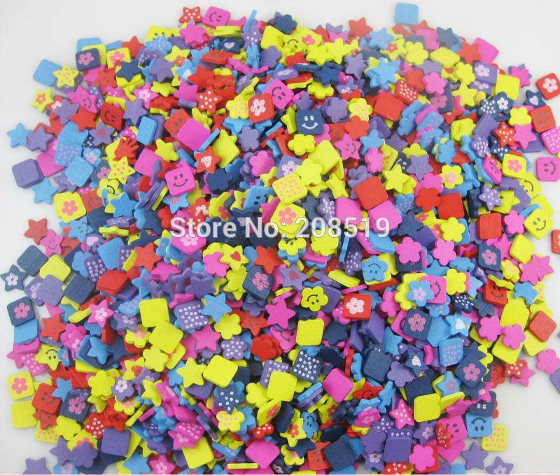 WBNLSV DIY obrti dobave flatback gumbi mix 200pcs multicolors - Umetnost, obrt in šivanje
