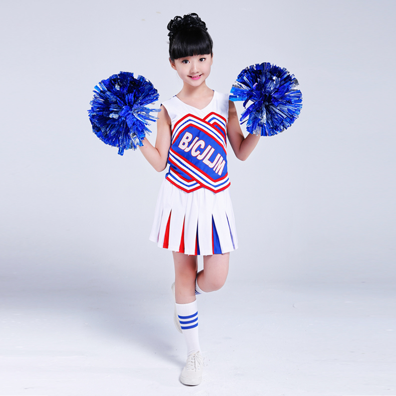 Children Academic Dress Primary School Uniforms Set Girl Cheerleader Cheer Leaders Costumes Aerobics Clothing Girls Uniforms