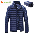 Hot Sale 2016 New Ultralight Men 90% White Duck Down Jacket Winter Duck Down Coat Waterproof Down Parkas Outerwear