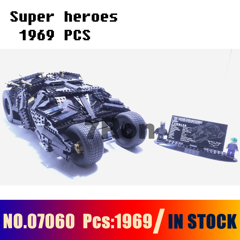 Model building toys hobbies 07060 super heroes Tumbler Figure Compatible With lego Blocks batman 76023 Educational DIY Bricks compatible with lego batman 70914 model 07081 super heroes bane toxic truck attack figure building blocks bricks toys