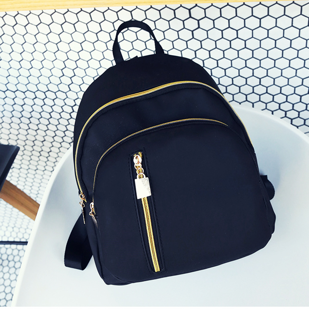 Womens Backpack School Bags Travel Backpack Black Bag For Woman Bookbag Mini Backpack Preppy Style Nylon Shoulder Bags