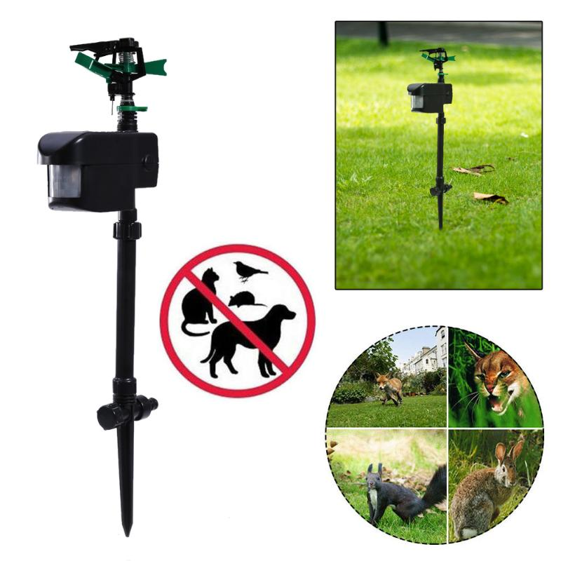 Garden Dogs Cats Repeller Solar Powered Pest Animal Repeller Motion Activated Animal Repellent Sprinkler Garden Supplies