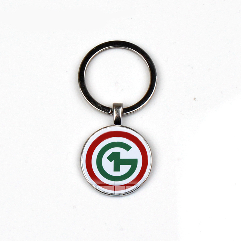 Fashion New O1G Keychain Hungarian Men Classic Logo Glass Dome Pendant Keyrings Wallet Car Jewelry Ring Porte Clef Souvenir Gift