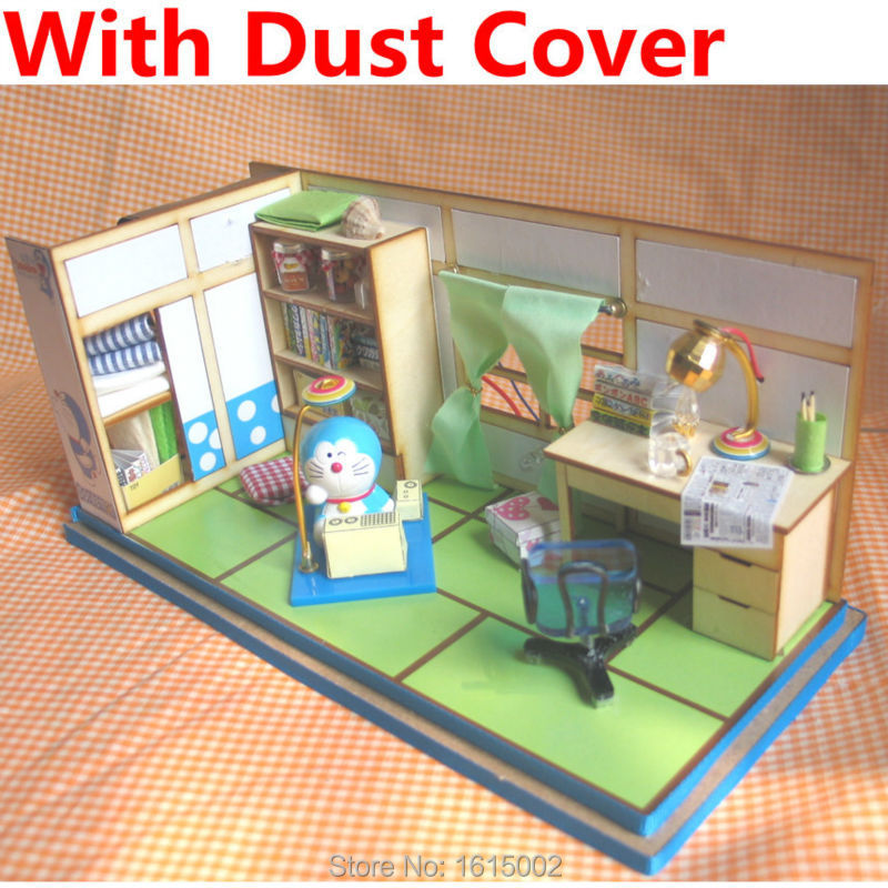 Kawaii Creative Diy Wooden Doll House Kids Toy Doraemon Nobita S Room Model Building Kit Furniture With Dust Cover For Girl Dh64 Toy Wooden Toy Story Party Suppliestoy Mascots Aliexpress