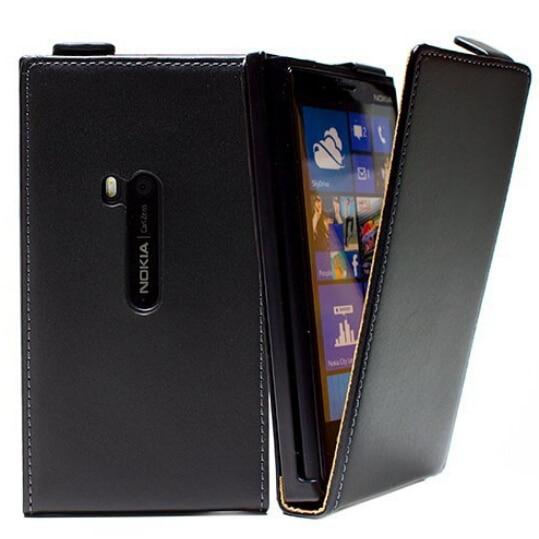 Новый черный Магнитная Застежка чехол сотового телефона кобура Вертикальный флип кожаный чехол для <font><b>Nokia</b></font> Lumia <font><b>920</b></font>