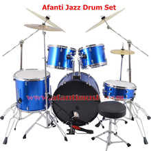 5 Drums 4 Cymbals Blue color Afanti Music Jazz Drum Set Drum kit AJDS 429