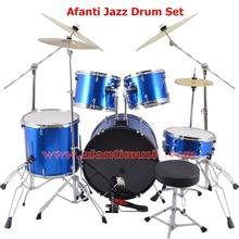 5 font b Drums b font 4 Cymbals Blue color Afanti font b Music b font