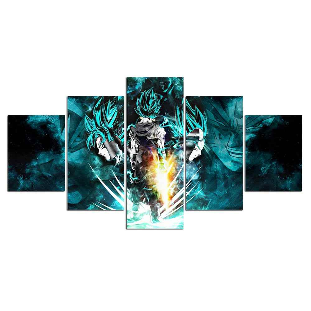 Artsailing 5 piece painting dragon ball anime poster and Print 5 panel canvas art Modular Frames  Cuadros Decoracion F1926