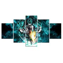 Artsailing 5 piece painting dragon ball anime poster and Print 5 panel canvas art Modular Frames Cuadros Decoracion F1926(China)