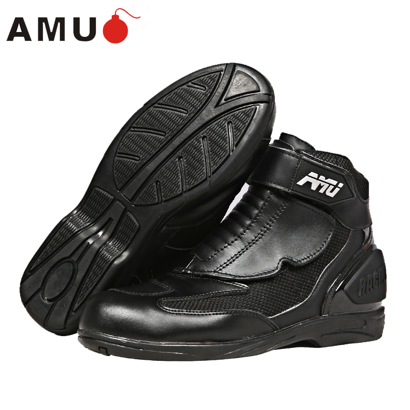 AMU motorcycle boots locomotive boots off - road vehicles short boots anti - fall breathable boots XBT15 starpad for xinyuan off road motorcycle accessories x2 x2x off road vehicles after the fender white
