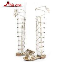 Дорога трек сандалии до колена женские летние в римском стиле с перекрестной шнуровкой на плоской подошве со шнуровкой удобные босоножки ж