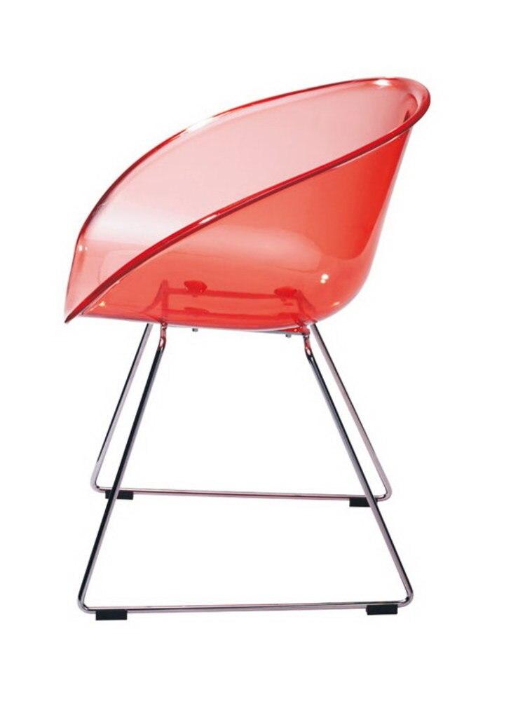 Minimalist Modern Design Clear transparent plastic acrylic Modern classic Dining Chair with Metal Leg Fashion Nice Design Chair