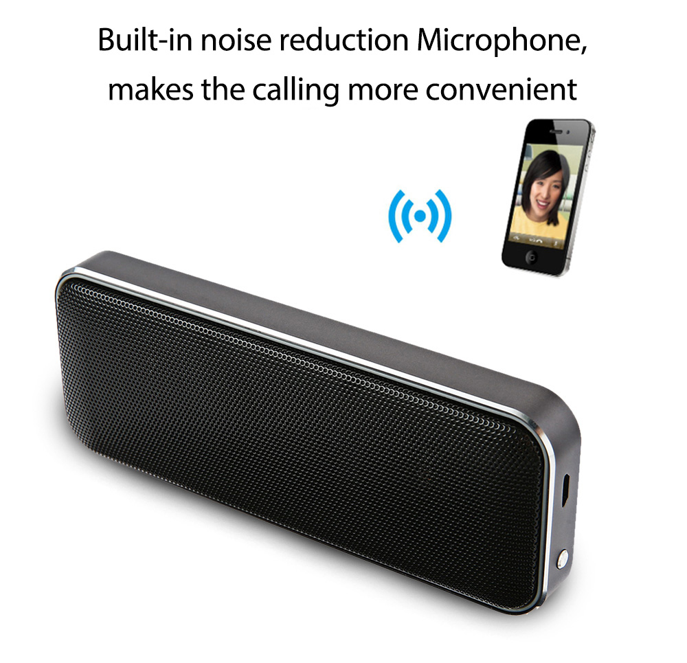 BT202 Wireless Mini Bluetooth Speaker Portable Ultra Thin Metal Stero Speaker Whith MIC Support