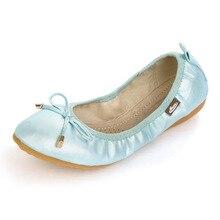 ที่มีคุณภาพสูงผู้หญิงเตี้ยฤดูร้อน2016ขายร้อนบัลเล่ต์แฟลตผู้หญิงรองเท้าหนังรองเท้าไม่มีส้นรองเท้าเรือหญิงZ Apatos C Haussure F Emme