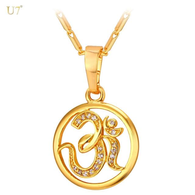 Hinduism jewelry hindu religion amulet pendant for womenmen gold hinduism jewelry hindu religion amulet pendant for womenmen gold color cubic zirconia aum om aloadofball Image collections
