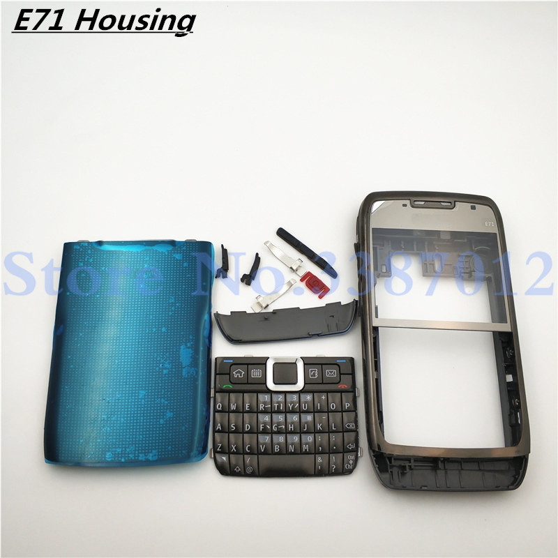 Good Full Complete Mobile Phone Housing Battery Cover For Nokia E71 +Keypad Faceplate