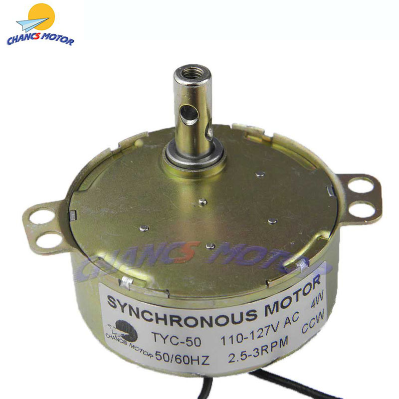 TYC-50 AC CHANCS Synchronous Motor 2.5-3RPM 4W CW//CCW Of Electric Motor Supplier