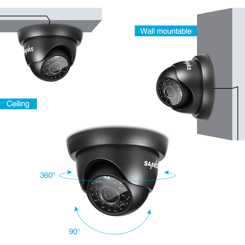 САННЦЕ ХД 8ЦХ ЦЦТВ систем 720П ДВР 6ПЦС - Безбедност и заштита - Фотографија 4