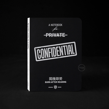 Confidential theme hardcover cool fashion lined notebook 13*18cm diary book 256 pages free shipping цена 2017