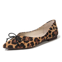 Elegant Women Shoes Flats Leopard Ballet Flats Pointed Fashion Shoes Woman Ladies Shoes Butterfly-knot Shallow Plus Size 33-43 все цены