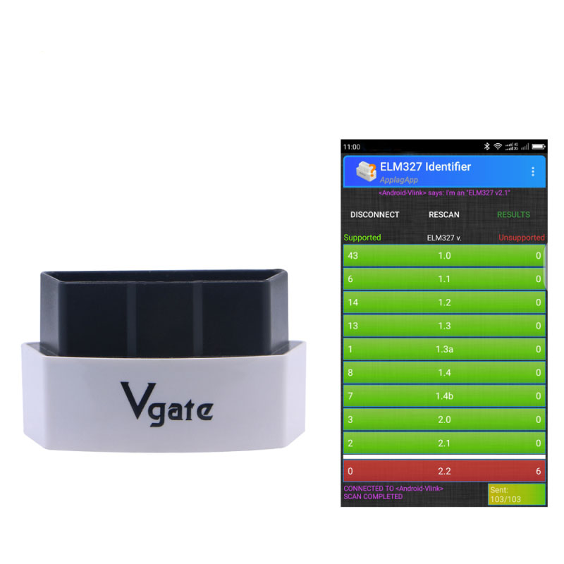 Original Vgate iCar3 Wifi version Elm327 Wifi Code Reader Support OBD2 Protocol Cars ELM 327 iCar3 wifi Scan for Android/ IOS/PC