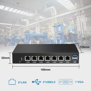 Image 2 - BEBEPC 6 * LAN Gigabit Ethernet Mini PC Celeron 1037U 1.80GHz Thin Client Router Pfsense Finestre 10 Linux Industriale mini Computer