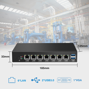 Image 3 - BEBEPC 6*LAN Gigabit Ethernet Mini PC Celeron 1037U Dual Core Mini Computer Industrial PC Router Pfsense Windows Linux