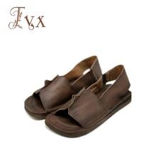 Tayunxing handgemachte Schuhe aus echtem Leder Kuhhaut offene Zehen flache Frauen Sandalen Komfort neue Mode lässig F6-A3