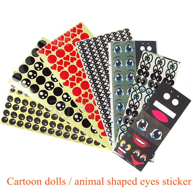 1 PCS Eyes Magic Balloon eyes stickers long balloon  Doll skin Balloons Eye  Decals modeling Wedding Balloons Decorations DIY