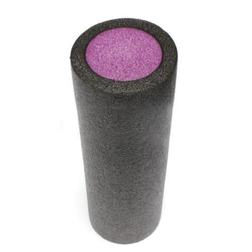 JHO-GRID FOAM MASSAGE ROLLER 45cm FITNESS REHAB INJURY PILATES YOGA EXERCISE -Black & Purple
