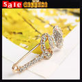 Large Golden Crystal Bow Wedding Bouquet Corsage Safety Pin Brooch,Rhinestone Butterfly Lapel Brooch Pin Up Bow 3pcs Wholesale