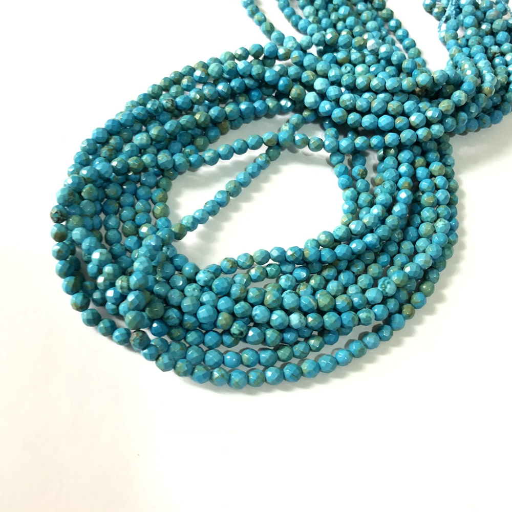 """8MM PINK TURQUOISE GEMSTONE ROUND 8MM LOOSE BEADS 16/"""""""