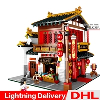 XingBao 01001 Creative Chinese Style Chinese Silk Satin Store Set Educational Building Blocks Bricks lepinings Toys Clone LP