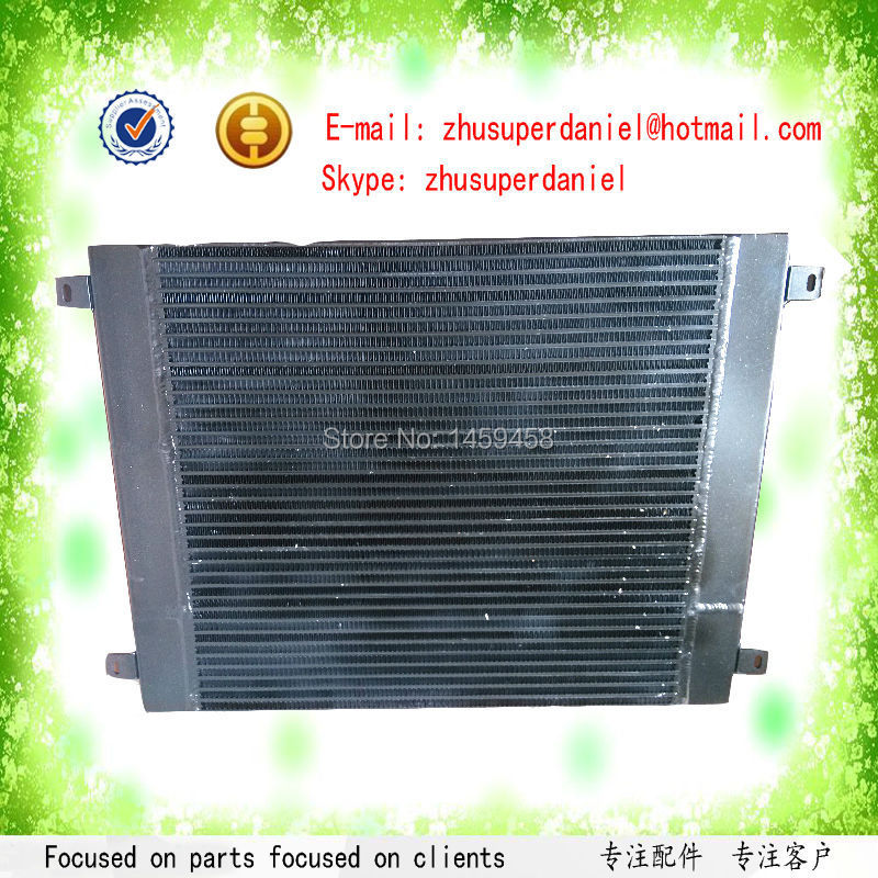 WJIER 02250155-141 double screw air compressor oil cooler water cooler radiator heat exchanger high quality water cooled heat exchanger black 22091904 for screw air compressor spare parts
