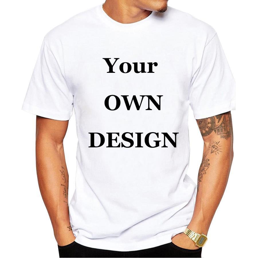 Your own design brand logo picture white custom t shirt for Custom shirts design your own