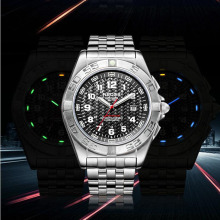 Top model NEDSS sports activities watches luminous system mens positive metal sapphire mirror mens sport automated mechanical watch wristwatch