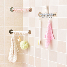 Kitchen Cupboard Organizer with 6  Hooks for Tower Spoon Bathroom Storage Rack Hanger Shelf self-adhesive Hanging Hook