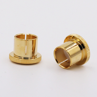 Hifi Audio RCA Plug Copper Caps Cover Noise Stoppers 24K Gold Plated Audio Top Quality 12pcs